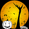 Vector clipart: halloween composition