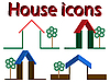 Векторный клипарт: дом иконки