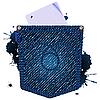 Векторный клипарт: джинсы бумажная икона
