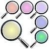 Vector clipart: magnifying glasses