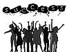 erfolgreiche Menschen Silhouetten