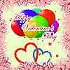 Векторный клипарт: Шаблон Валентина день карты