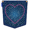 Vector clipart: valentine jeans pocket