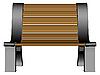 Vector clipart: 3d bench