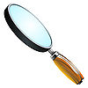 Vector clipart: 3d magnifying glass