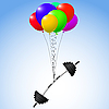 Vector clipart: balloons and weights