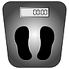 Vector clipart: digital scale