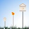 Vector clipart: bird houses