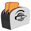 Vector clipart: bread toaster