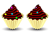 Vector clipart: candy cupcakes