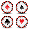 Vector clipart: casino chips