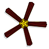 Vector clipart: ceiling fan lamp 2