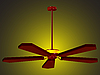 Vector clipart: ceiling fan lamp