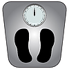 Vector clipart: classic bathroom scale
