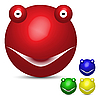 Vector clipart: colored smiley