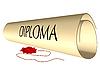 Vector clipart: diploma and wax seal