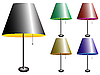 Vector clipart: electric lamps with lampshade