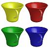 Vector clipart: empty cups
