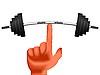 Vector clipart: finger holding weights