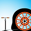 Vector clipart: flat tyre