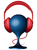 Vector clipart: headphones on support