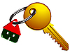 Vector clipart: house and key