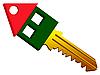Vector clipart: house shape key