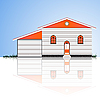 Vector clipart: house with garage
