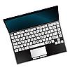 Vector clipart: laptop against white