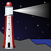 Vector clipart: lighthouse in the night