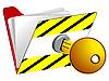 Vector clipart: locked folder