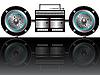 Vector clipart: modern radiocassette player