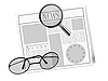 Vector clipart: newspaper and glasses