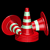 Vector clipart: red traffic cones