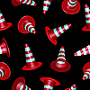 Vector clipart: traffic cones pattern