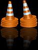 Vector clipart: traffic cones piles