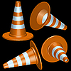 Vector clipart: traffic cones