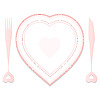 Vector clipart: valentine plate and dishes