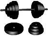Vector clipart: weights