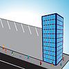 Vektor Cliparts: 3D-Gebäude Wohnungen