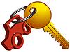 Vektor Cliparts: Auto und Schlüssel