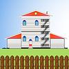 Vektor Cliparts: Wohnungen Gebäude