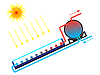 Vektor Cliparts: Solarwarmwasserbereiter