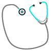 Vektor Cliparts: Stethoskop gegen Weiß
