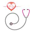 Vektor Cliparts: Stethoskop und Grafik