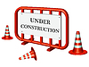 Vector clipart: under construction fence
