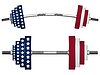 Vector clipart: us flag weights