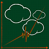 Vector clipart: 3d graph and clouds