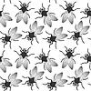 Vector clipart: fly seamless texture