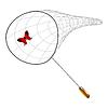 Векторный клипарт: бабочка и чистой